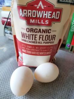 Flour and Duck eggs