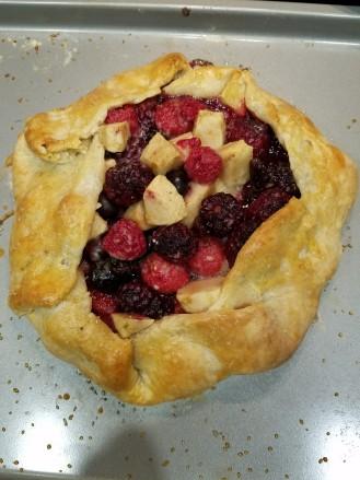 Raspberry, Apple, and Blackberry Galette
